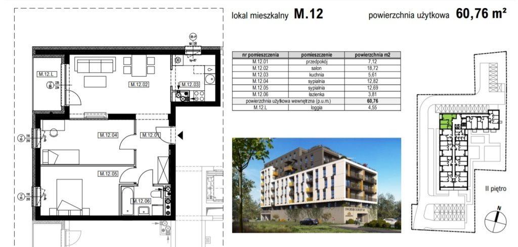Mieszkanie trzypokojowe na sprzedaż Rzeszów, Krakowska  61m2 Foto 3