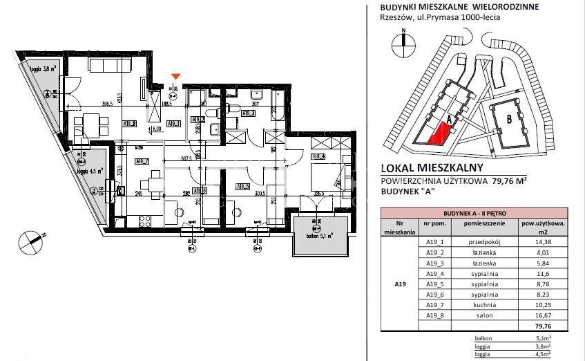 Mieszkanie czteropokojowe  na sprzedaż Rzeszów, Baranówka, Prymasa 1000-lecia  80m2 Foto 7