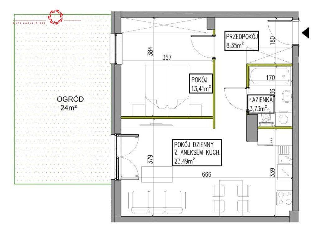 Mieszkanie dwupokojowe na sprzedaż Wrocław, Jagodno, Edmunda Kajdasza  49m2 Foto 6