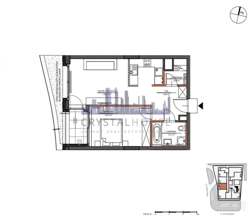 Mieszkanie dwupokojowe na sprzedaż Warszawa, Śródmieście, Górnośląska  48m2 Foto 9