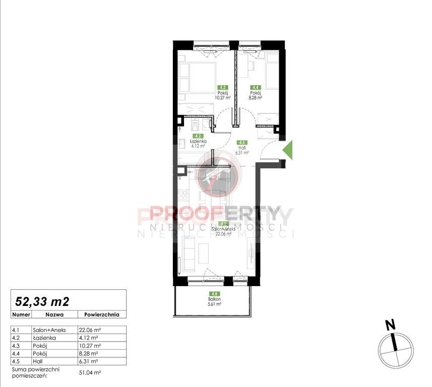 Mieszkanie trzypokojowe na sprzedaż Gdańsk, Jasień, Jabłoniowa  52m2 Foto 3