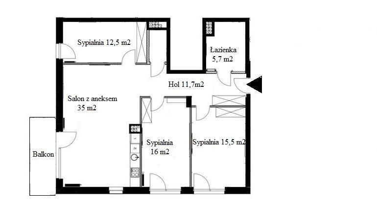 Mieszkanie czteropokojowe  na sprzedaż Warszawa, Włochy Stare Włochy  106m2 Foto 3