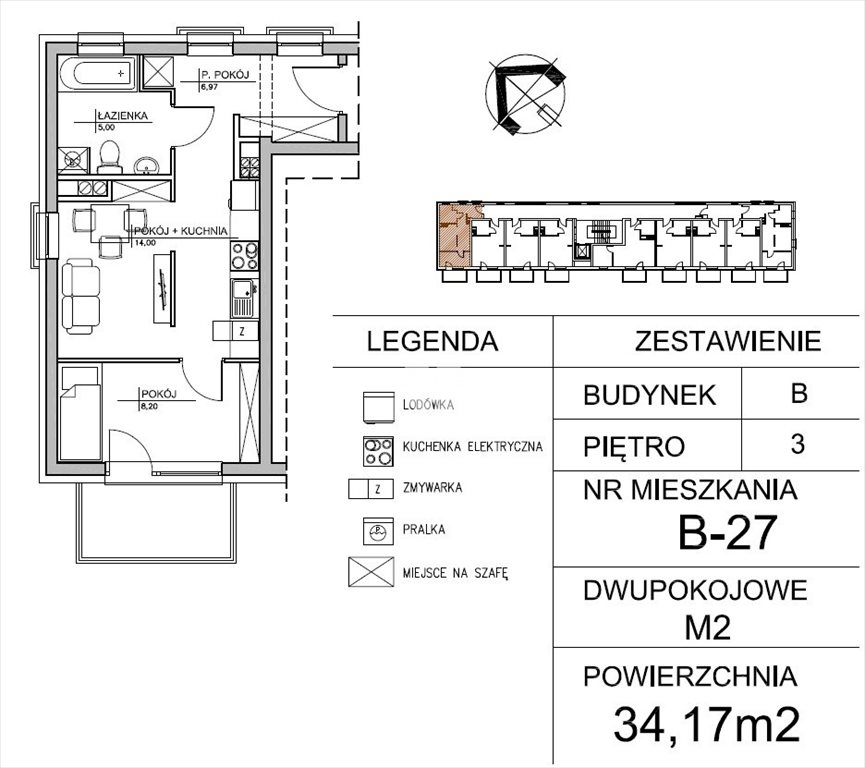 Mieszkanie dwupokojowe na sprzedaż Bydgoszcz, Centrum, Tadeusza Kościuszki  35m2 Foto 3