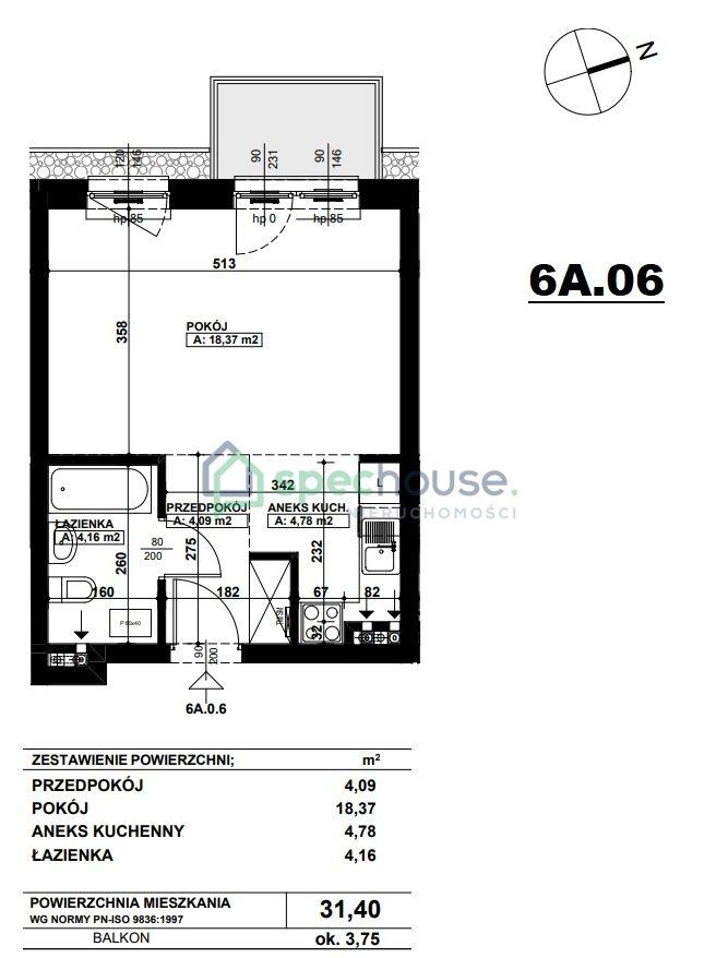Mieszkanie dwupokojowe na sprzedaż Poznań, Podolany, Podolany, Druskiennicka  31m2 Foto 4
