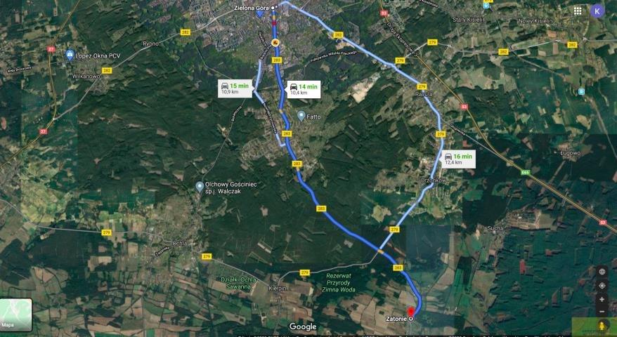 Działka rolna na sprzedaż Zielona Góra, Zatonie-Różana  26987m2 Foto 2