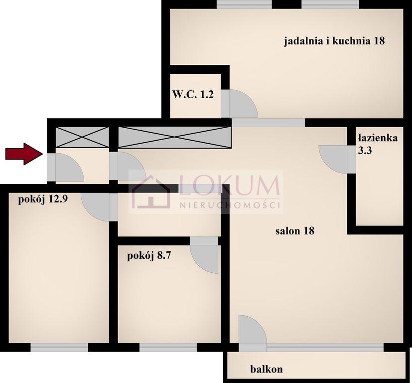Mieszkanie trzypokojowe na sprzedaż Radom, Akademickie, Akademicka  75m2 Foto 7