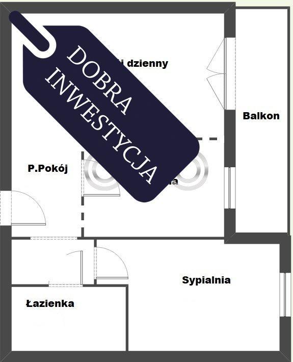 Mieszkanie dwupokojowe na sprzedaż Wrocław, Krzyki, Grabiszynek, Racławicka  48m2 Foto 2