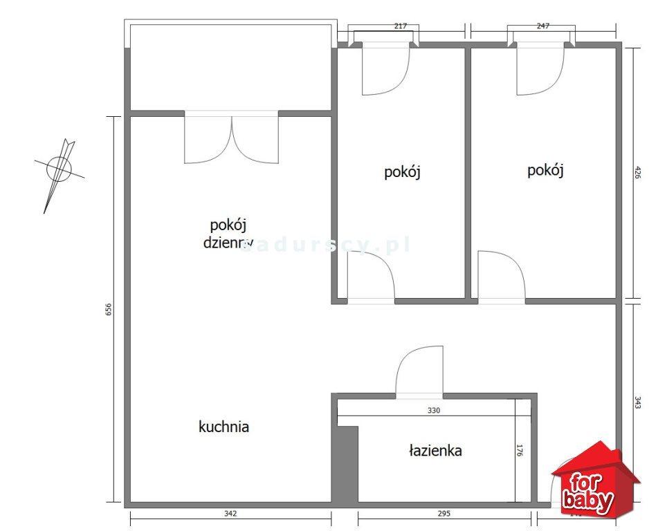 Mieszkanie trzypokojowe na sprzedaż Kraków, Dębniki, Osiedle Podwawelskie, Dworska  59m2 Foto 3