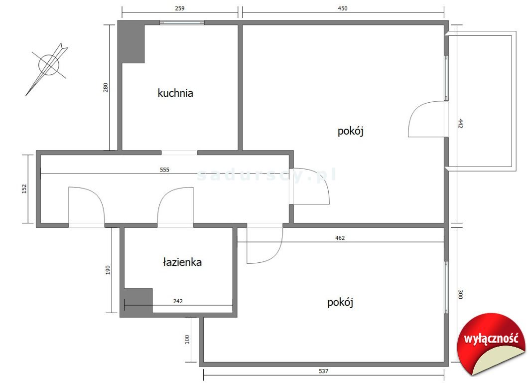 Mieszkanie dwupokojowe na sprzedaż Kraków, Podgórze Duchackie, Piaski, Bochenka  52m2 Foto 3