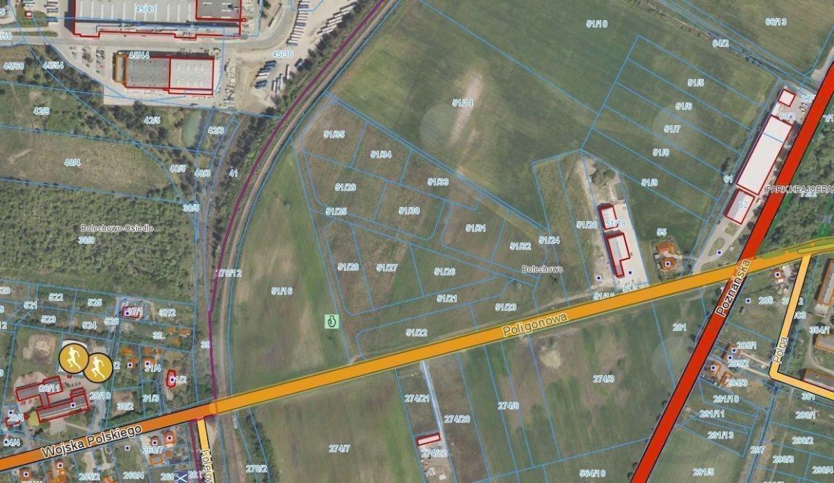 Działka przemysłowo-handlowa na sprzedaż Bolechowo, Poligonowa  59400m2 Foto 9