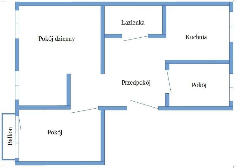 Mieszkanie trzypokojowe na sprzedaż Luboń, Żabikowska  56m2 Foto 12