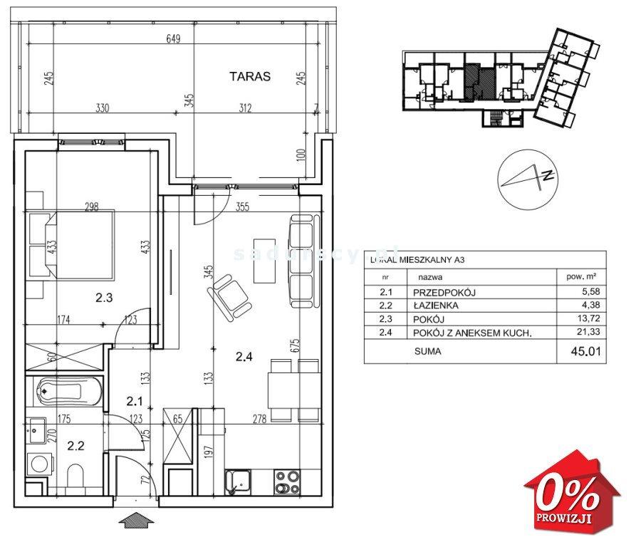 Mieszkanie dwupokojowe na sprzedaż Kraków, Podgórze, Płaszów, Saska -  okolice  45m2 Foto 3