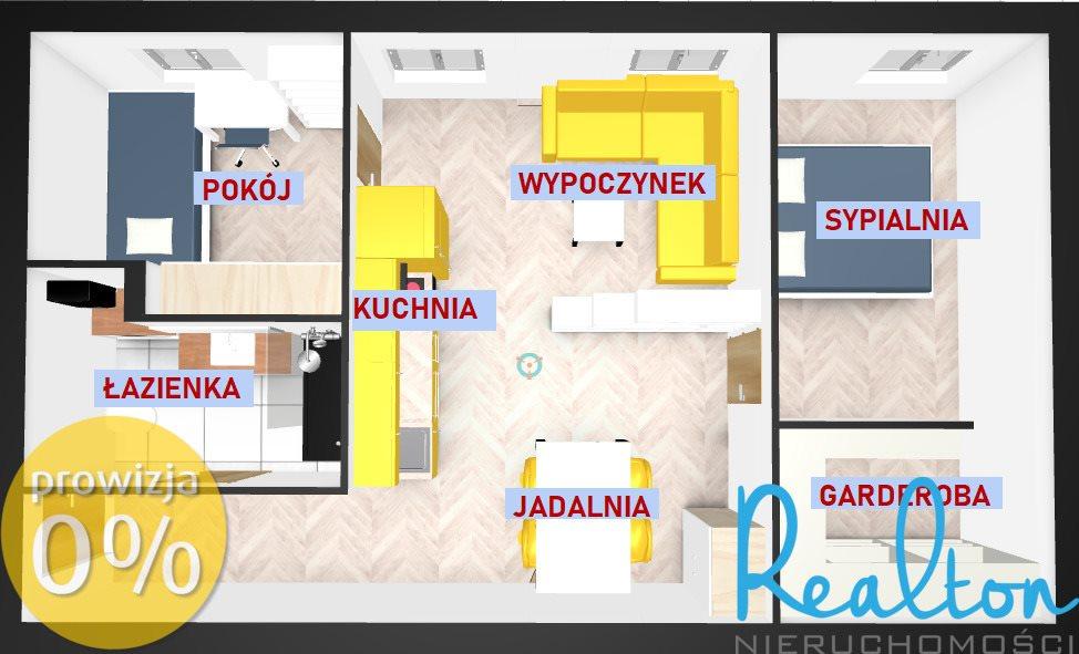 Mieszkanie dwupokojowe na sprzedaż Gliwice, Zatorze, Chorzowska  51m2 Foto 1