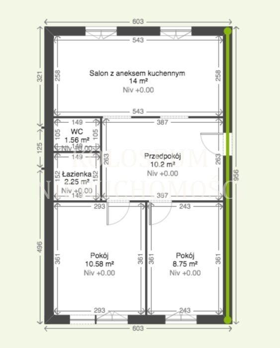 Mieszkanie trzypokojowe na sprzedaż Pruszków  49m2 Foto 8