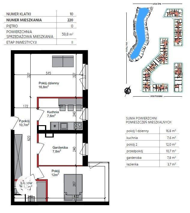 Mieszkanie czteropokojowe  na sprzedaż Bydgoszcz, Szwederowo, Piękna  60m2 Foto 2