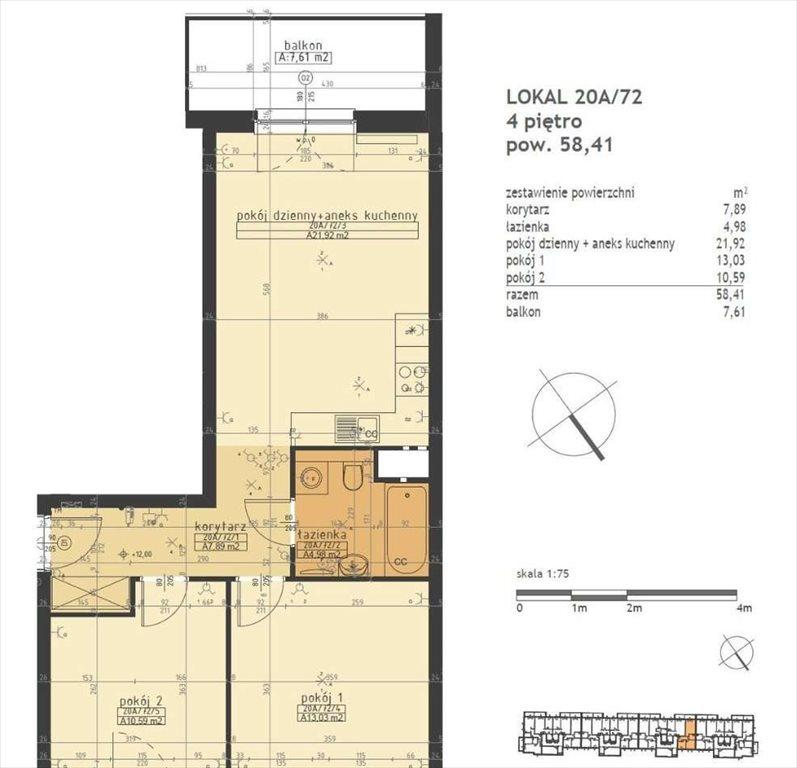 Mieszkanie trzypokojowe na sprzedaż Poznań, Stare Miasto, Winogrady  58m2 Foto 2