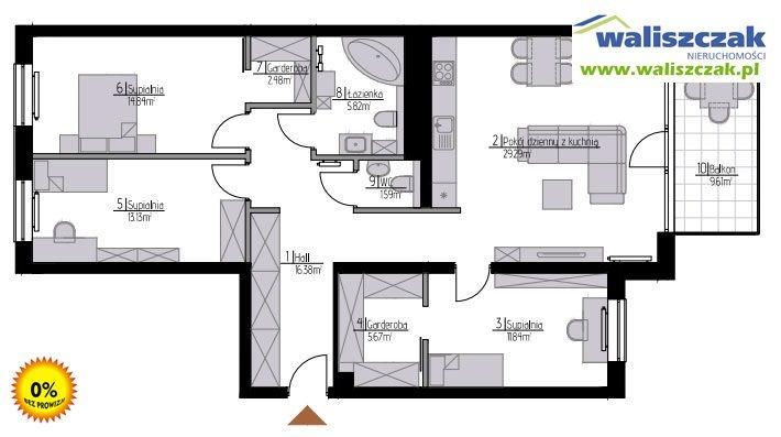 Mieszkanie czteropokojowe  na sprzedaż Piotrków Trybunalski, Centrum  101m2 Foto 1