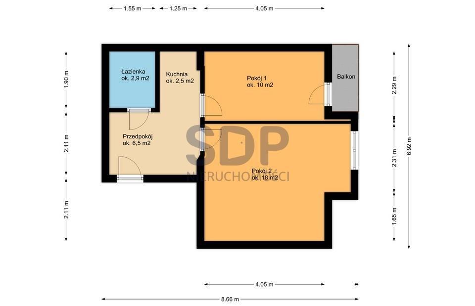 Mieszkanie dwupokojowe na sprzedaż Wrocław, Śródmieście, Ołbin, Żeromskiego Stefana  39m2 Foto 13