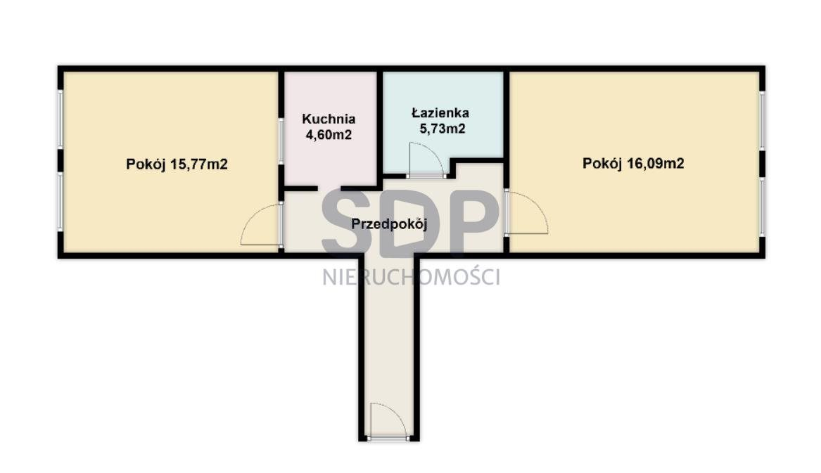 Mieszkanie dwupokojowe na sprzedaż Wrocław, Stare Miasto, Stare Miasto, Ruska  54m2 Foto 5