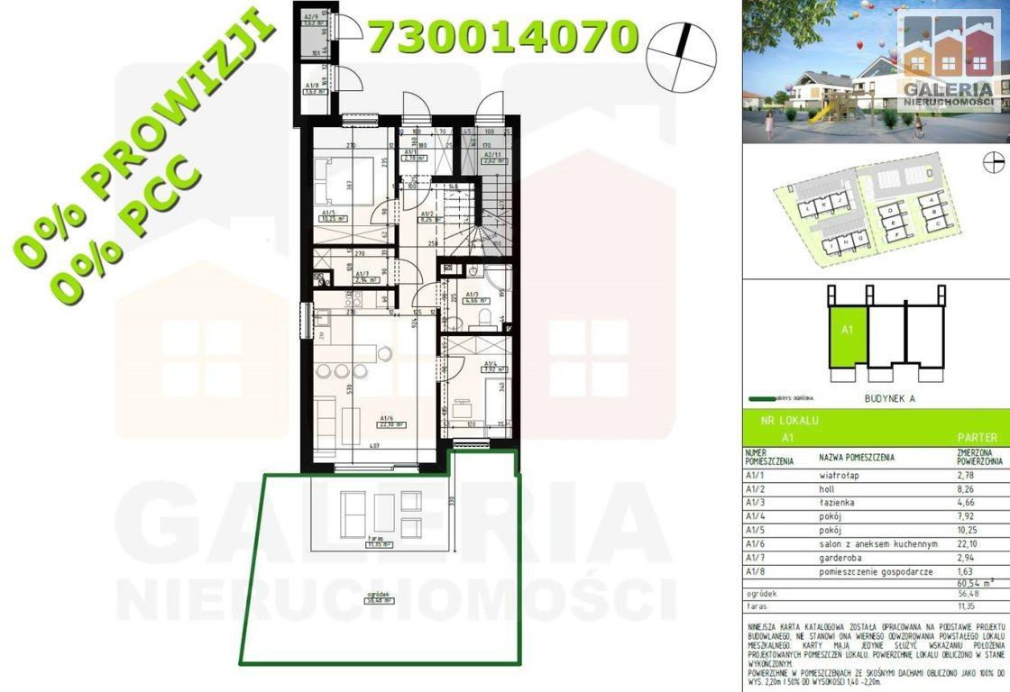 Mieszkanie trzypokojowe na sprzedaż Rzeszów, Wilkowyja, Warneńczyka  61m2 Foto 1