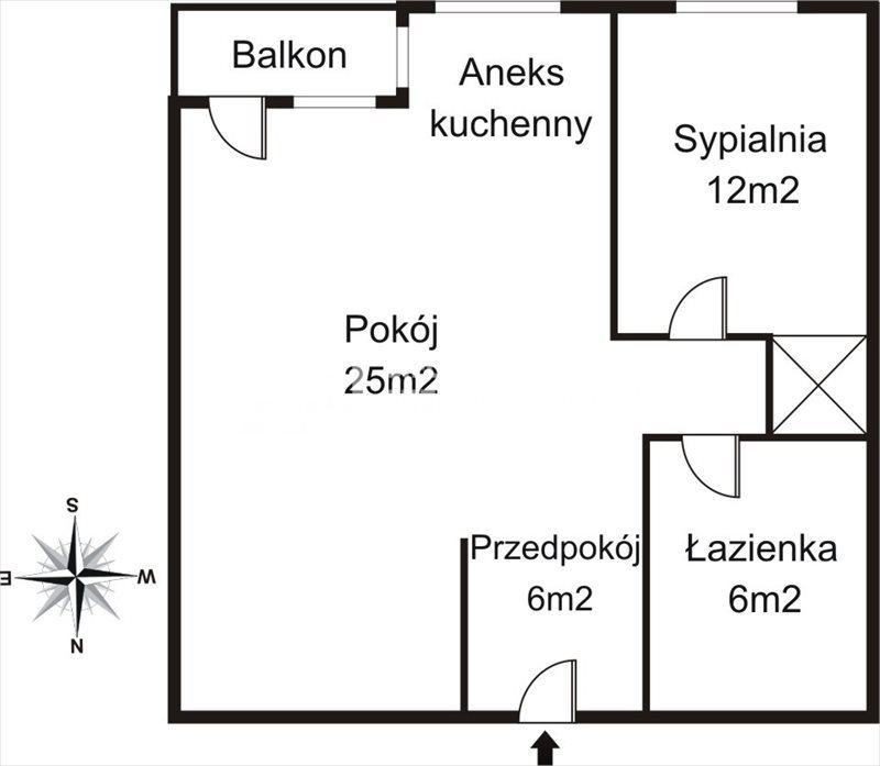 Mieszkanie dwupokojowe na wynajem Gdańsk, Zaspa, Jana Pawła II  49m2 Foto 2