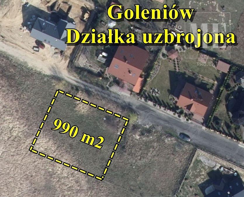 Działka budowlana na sprzedaż Goleniów  990m2 Foto 1