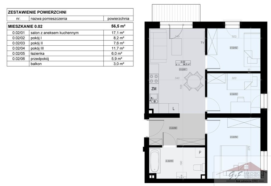 Mieszkanie czteropokojowe  na sprzedaż Przemyśl, Tatarska  57m2 Foto 3