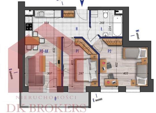 Mieszkanie trzypokojowe na sprzedaż Rzeszów, Przybyszówka, Błogosławionej Karoliny  53m2 Foto 2
