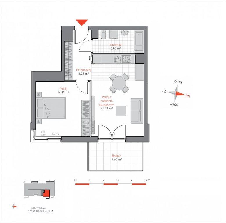 Mieszkanie dwupokojowe na sprzedaż Gdańsk, Siedlce, Jacka Malczewskiego  48m2 Foto 2