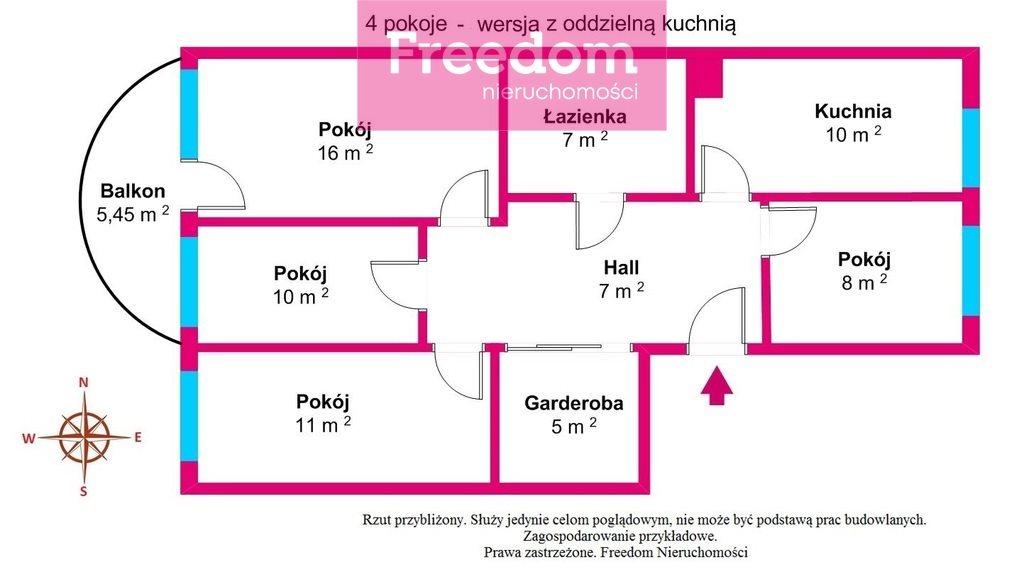 Mieszkanie trzypokojowe na sprzedaż Toruń, Koniuchy, Janiny Bartkiewiczówny  75m2 Foto 13