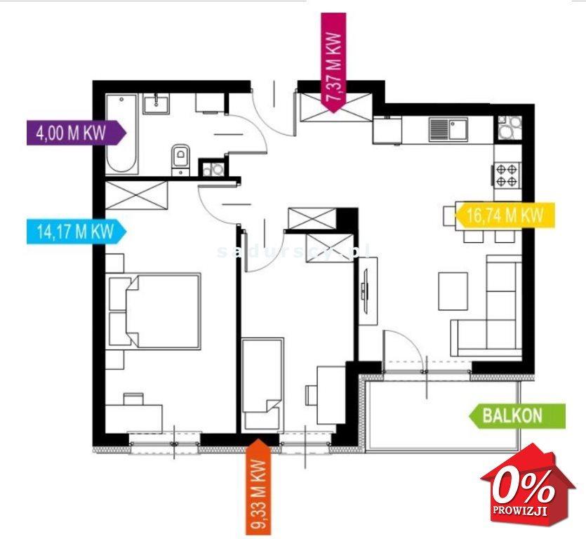 Mieszkanie trzypokojowe na sprzedaż Kraków, Prądnik Biały, Prądnik Biały, Kazimierza Wyki - okolice  52m2 Foto 3