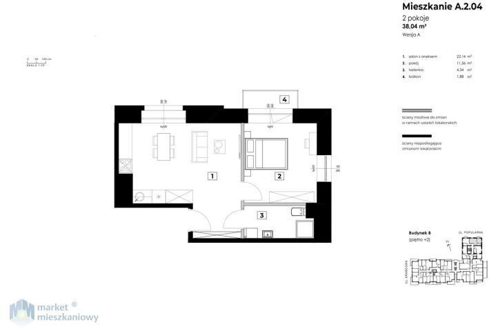 Mieszkanie dwupokojowe na sprzedaż Warszawa, Włochy, Wiktoryn  38m2 Foto 4