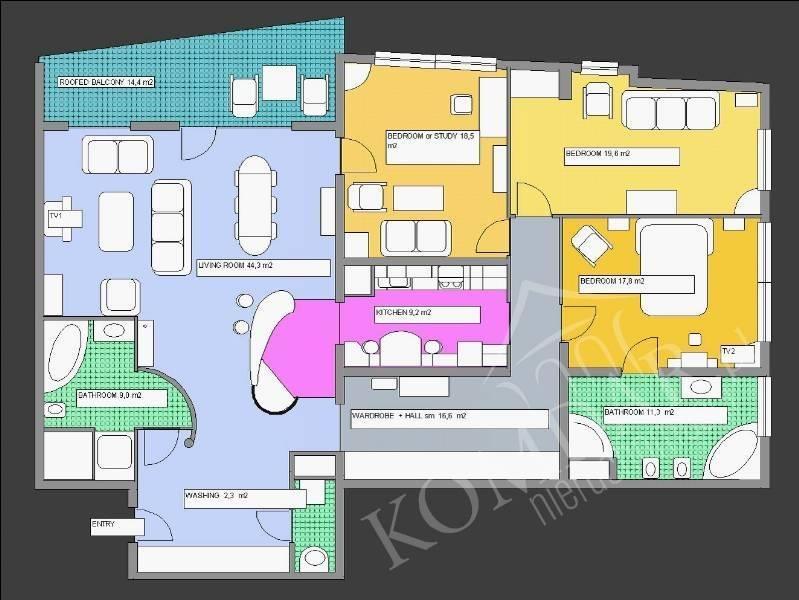 Mieszkanie czteropokojowe  na wynajem Warszawa, Mokotów, Mokotów, Bukowińska  161m2 Foto 3