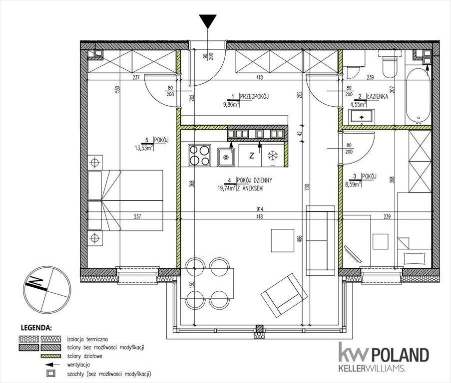Mieszkanie trzypokojowe na sprzedaż Wrocław, Śródmieście, Kręta  54m2 Foto 6