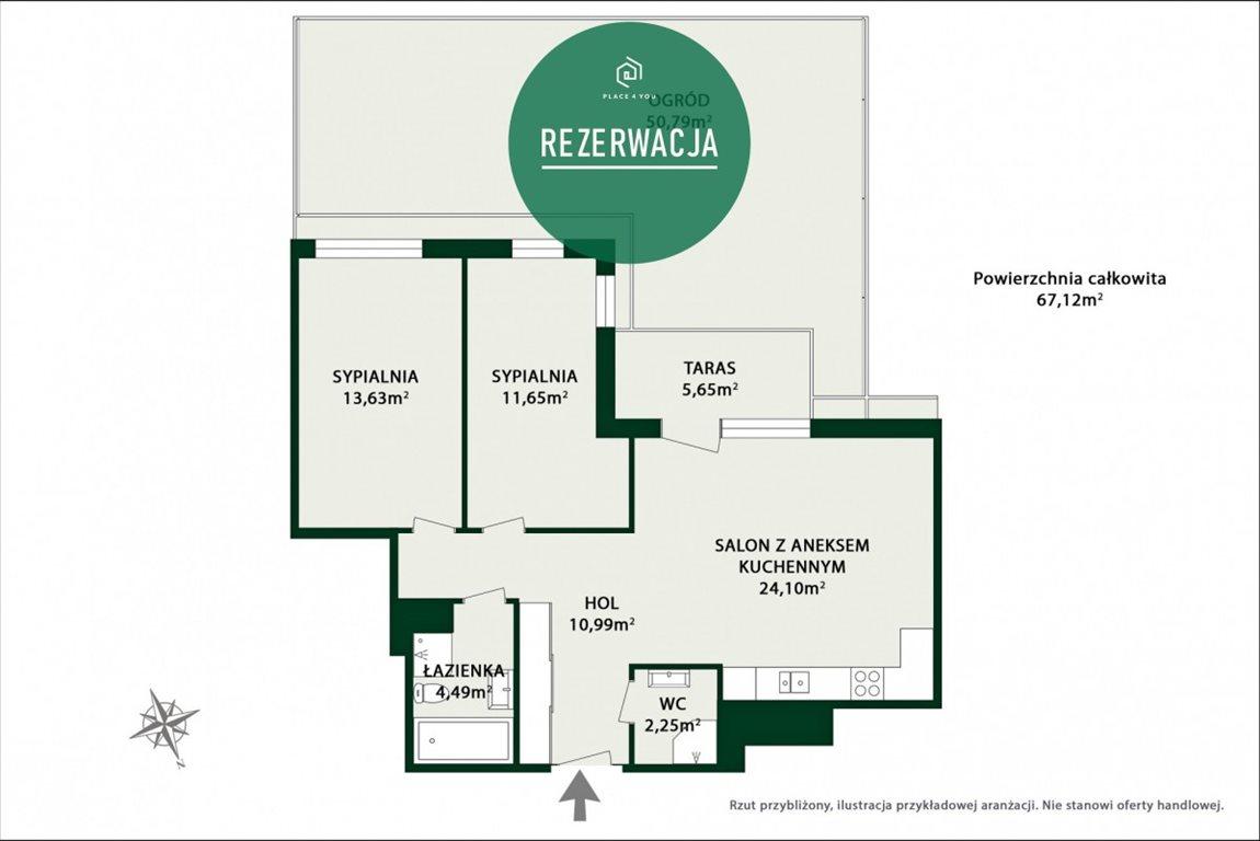 Mieszkanie trzypokojowe na sprzedaż Warszawa, Mokotów Służewiec, Cybernetyki  67m2 Foto 10