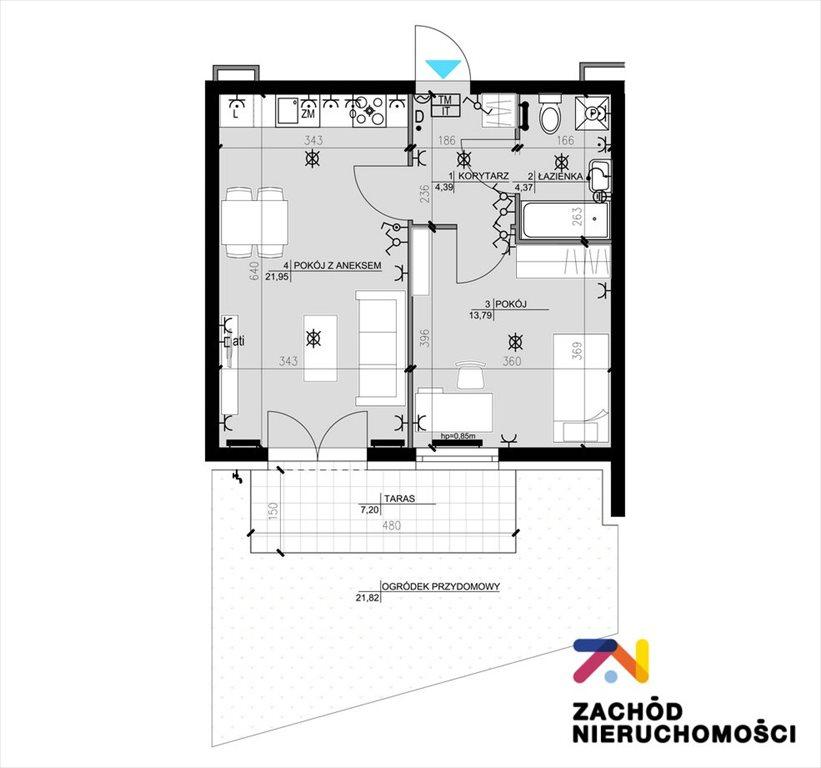 Mieszkanie trzypokojowe na sprzedaż Zielona Góra, Osiedle Śląskie  57m2 Foto 12