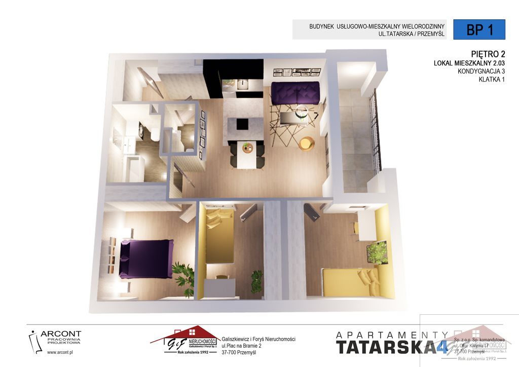 Mieszkanie czteropokojowe  na sprzedaż Przemyśl, Tatarska  78m2 Foto 2