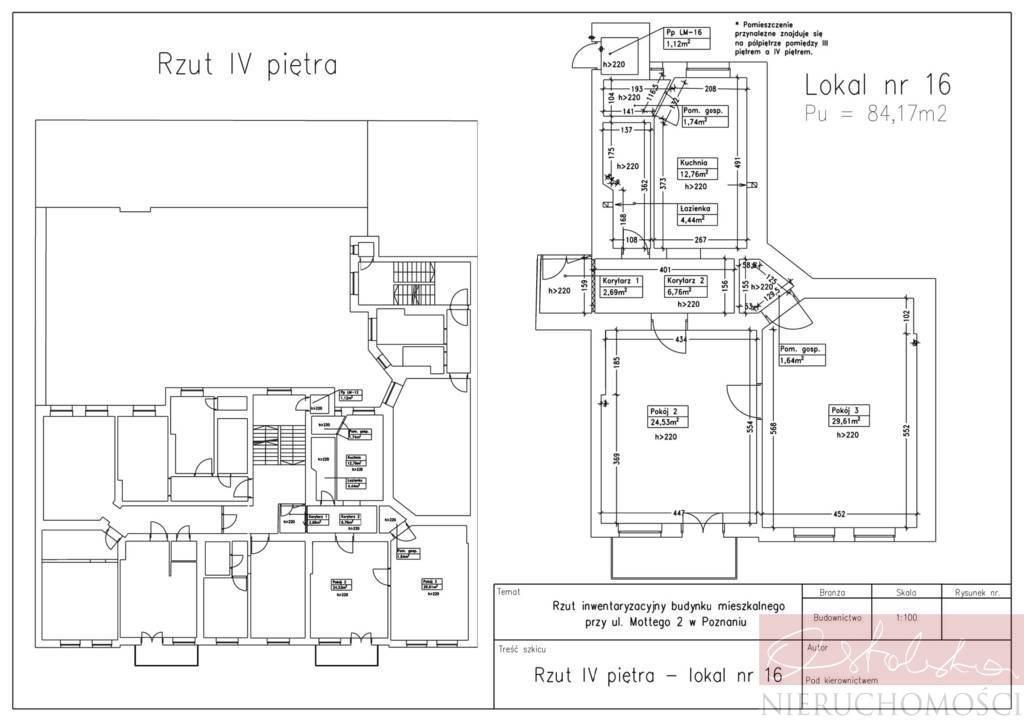 Mieszkanie trzypokojowe na sprzedaż Poznań, Łazarz, Łazarz, Marcelego Mottego  84m2 Foto 2