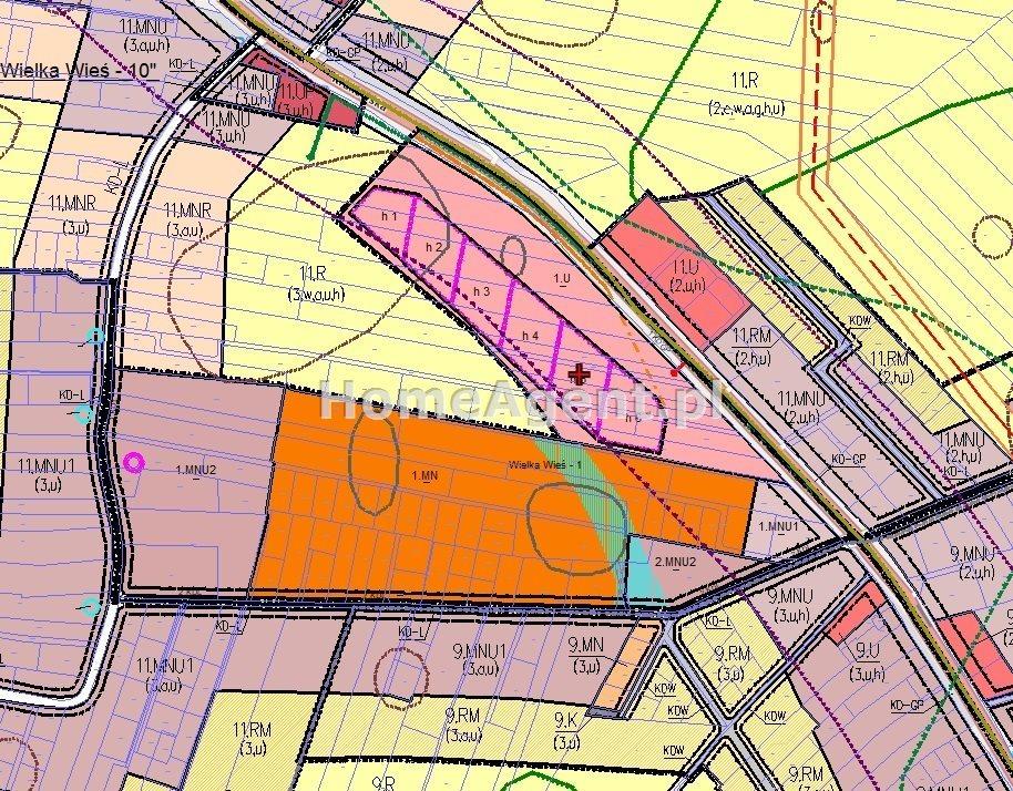 Działka budowlana na sprzedaż Wielka Wieś  7400m2 Foto 11