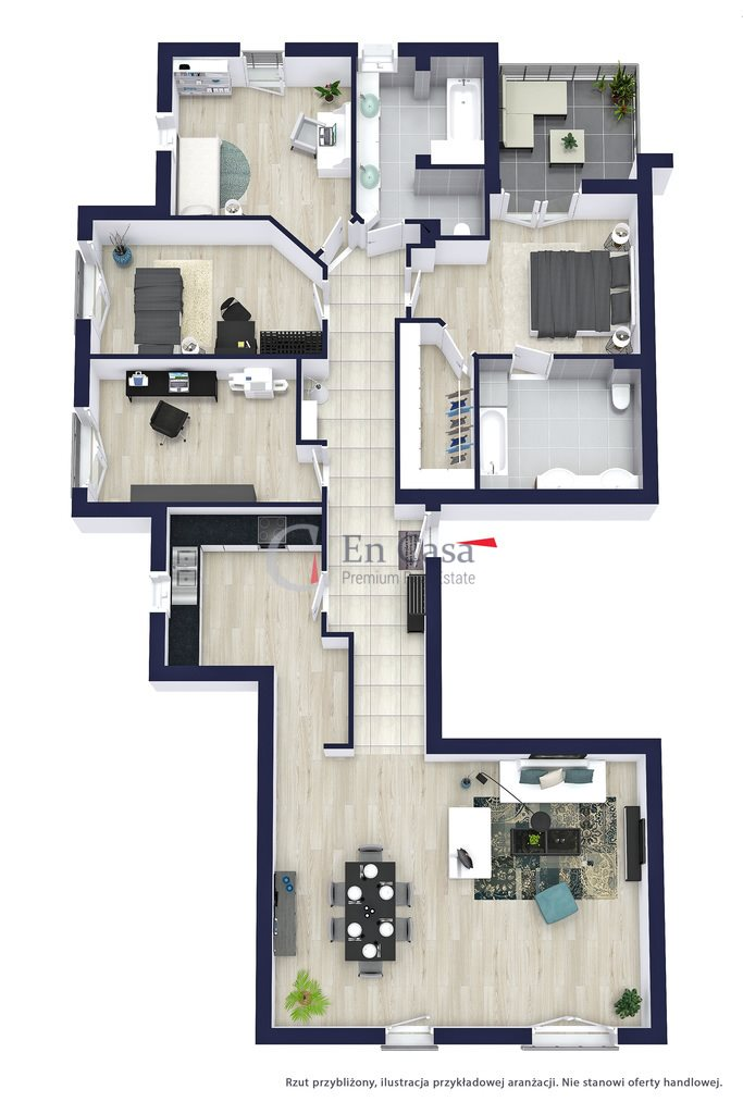 Mieszkanie na sprzedaż Warszawa, Mokotów, Zbyszka Cybulskiego  161m2 Foto 12