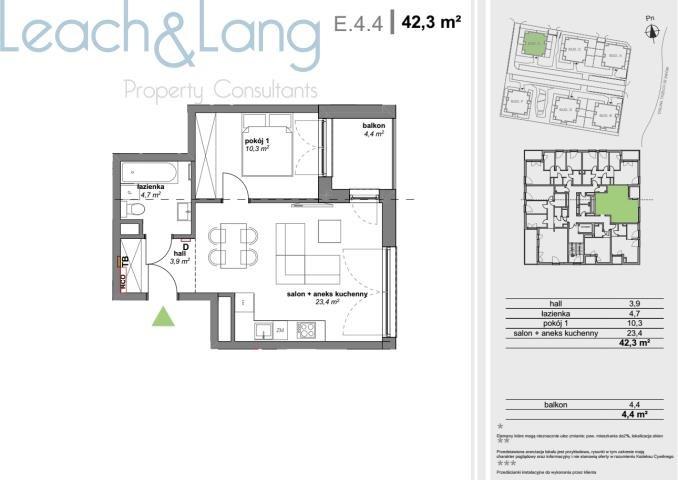 Mieszkanie dwupokojowe na sprzedaż Katowice, Dolina Trzech Stawów  42m2 Foto 1