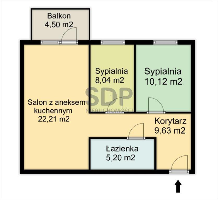 Mieszkanie trzypokojowe na sprzedaż Wrocław, Psie Pole, Psie Pole, Zatorska  55m2 Foto 5