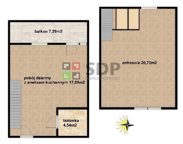 Mieszkanie dwupokojowe na sprzedaż Wrocław, Fabryczna, Maślice, ok. Królewieckiej  55m2 Foto 2