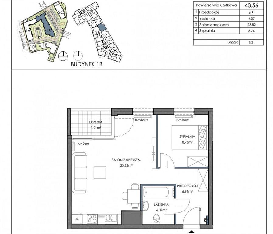 Mieszkanie dwupokojowe na sprzedaż Gdańsk, Letnica  44m2 Foto 2