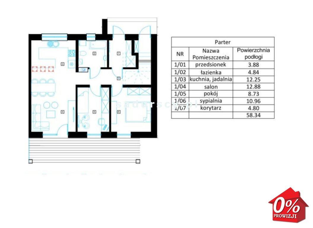 Mieszkanie trzypokojowe na sprzedaż Zielonki, Zielonki, Pękowicka - okolice  58m2 Foto 3