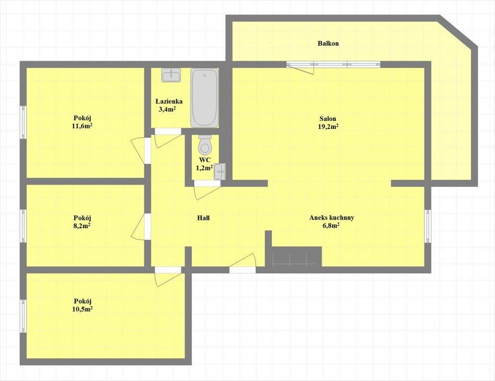Mieszkanie czteropokojowe  na sprzedaż Nowy Sącz, Naściszowska  72m2 Foto 11
