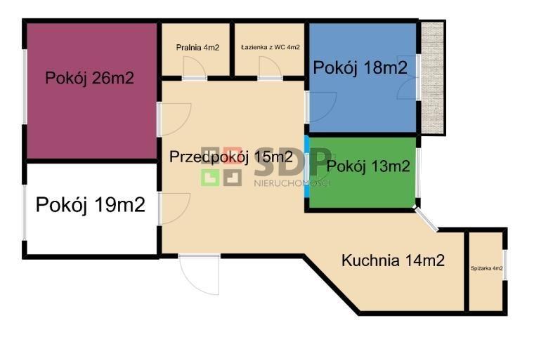Mieszkanie czteropokojowe  na sprzedaż Wrocław, Krzyki, Gajowa  128m2 Foto 1