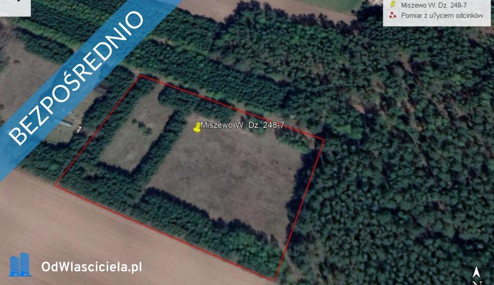 Działka leśna z prawem budowy na sprzedaż Miszewo Wielkie  3600m2 Foto 1