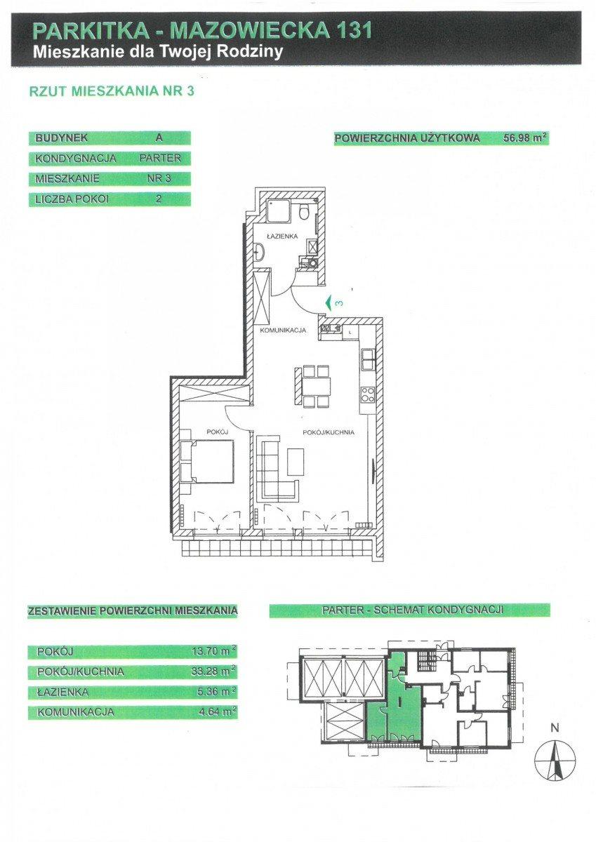 Mieszkanie dwupokojowe na sprzedaż Częstochowa, Parkitka, Mazowiecka  65m2 Foto 2