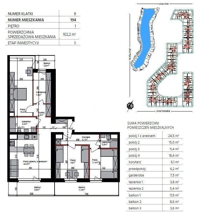 Mieszkanie czteropokojowe  na sprzedaż Bydgoszcz, Górzyskowo, Orla  102m2 Foto 1